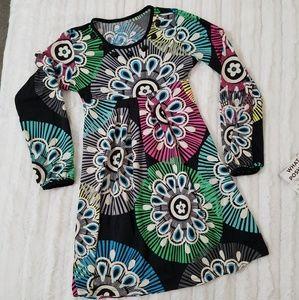 🆕️The Children's Place print dress, beaded neck